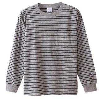 チャンピオン(Champion)の[チャンピオン] ボーダーロングスリーブTシャツ メンズ 新品(Tシャツ/カットソー(七分/長袖))