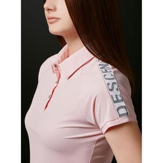 DESCENTE - デサントゴルフ⭐︎ 大人気完売⭐︎アクセンシャルゼブラ鹿の子袖ロゴプリントシャツ