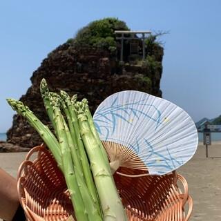 クール便 送料込み 島根県産 アスパラガス 1キロ サイズs〜L 混ぜ混ぜセット(野菜)
