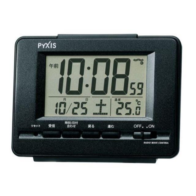 SEIKO(セイコー)のセイコー 電波時計 目覚まし時計 黒 新品 送料無料 電池2本付 インテリア/住まい/日用品のインテリア小物(置時計)の商品写真