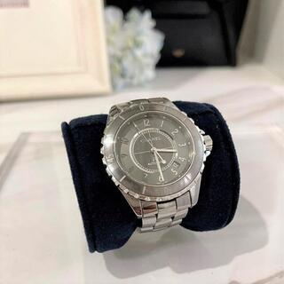 シャネル(CHANEL)のシャネル J12 H2934 クロマティック グレー 美品☆(腕時計(アナログ))