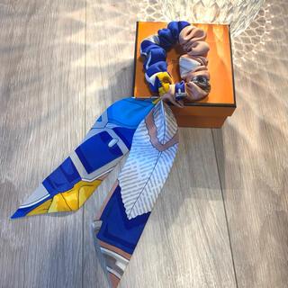 エルメス(Hermes)の【新品未使用】エルメス シュシュ ピンクベージュ、青、白、水色、黄色(ヘアゴム/シュシュ)