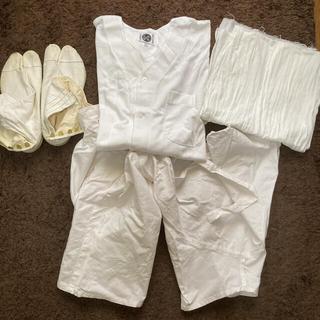 【送料無料】祭用品 神輿の服装、衣装4点セット 足袋、半股引、鯉口シャツ、晒し(その他)