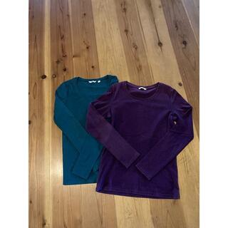 ユニクロ(UNIQLO)のUNIQLO ロングスリーブTシャツ Mサイズ 2枚セット(Tシャツ(長袖/七分))