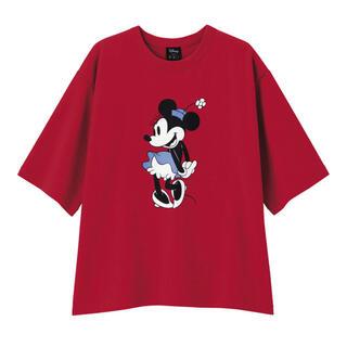 GU - GU(ジーユー) ビッグT(半袖)(ディズニーB)ミニーマウス M レッド 赤