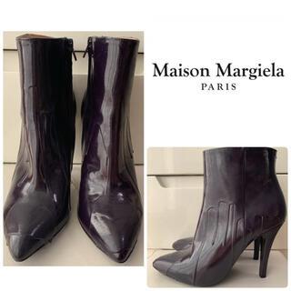 マルタンマルジェラ(Maison Martin Margiela)のメゾンマルタンマルジェラ パープルレザー ブーツ(ブーツ)