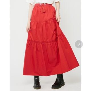 ジュエティ(jouetie)のジュエティ スカート フレアスカート 赤 レッド(ロングスカート)