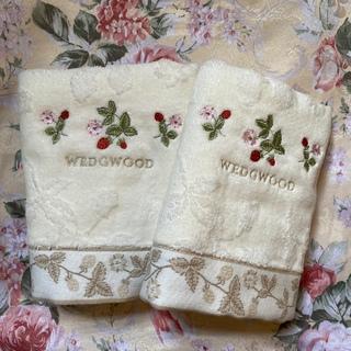 WEDGWOOD - ウェッジウッド ふわふわのフェイスタオル2枚セット ワイルドストロベリー