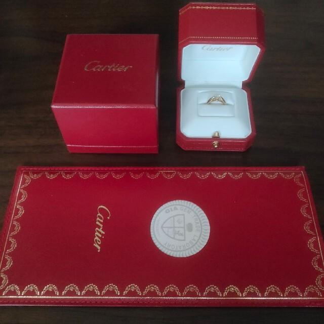 Cartier(カルティエ)のカルティエ スリーカラー ダイヤモンド リング K18 0.31ct VVS-1 レディースのアクセサリー(リング(指輪))の商品写真
