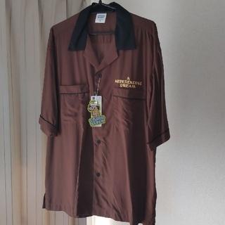 ジーユー(GU)のstudioseven gu オープンカラーシャツ ダークブラウン 新品未使用(シャツ)