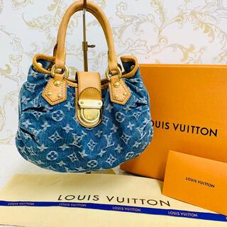 LOUIS VUITTON - ✴︎正規品 美品 ルイヴィトン プリーティ デニム モノグラム ハンドバッグ