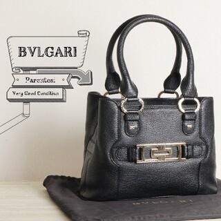 BVLGARI - 極美品 BVLGARI ブルガリ パレンテシ レザー ハンド バッグ