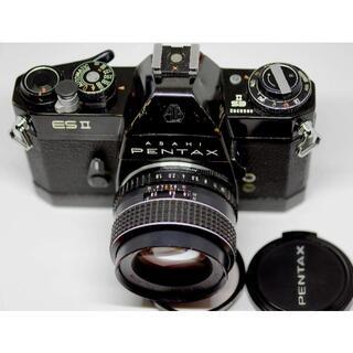 ペンタックス(PENTAX)のPENTAX ESⅡ ブラックボディー、動作品、モルト張替え済み。(フィルムカメラ)