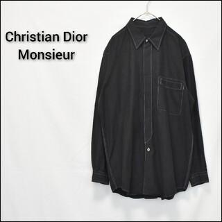 Christian Dior - Christian Dior Monsieur ブラック 後染め 長袖シャツ