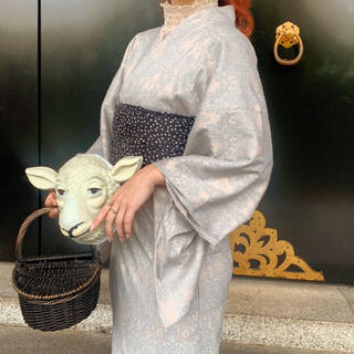 ザラ(ZARA)のvintage lace Yukata(blue)(浴衣)