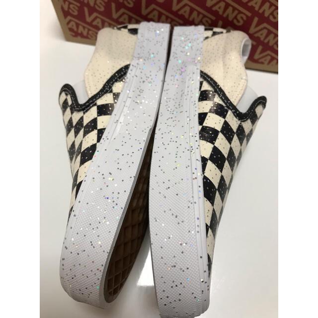 VANS(ヴァンズ)のバンズ スリッポン チェッカー ラメ レディースの靴/シューズ(スリッポン/モカシン)の商品写真