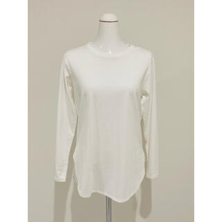 ユニクロ(UNIQLO)のUNIQLO ユニクロ コットンロングシャツテールT(Tシャツ(長袖/七分))