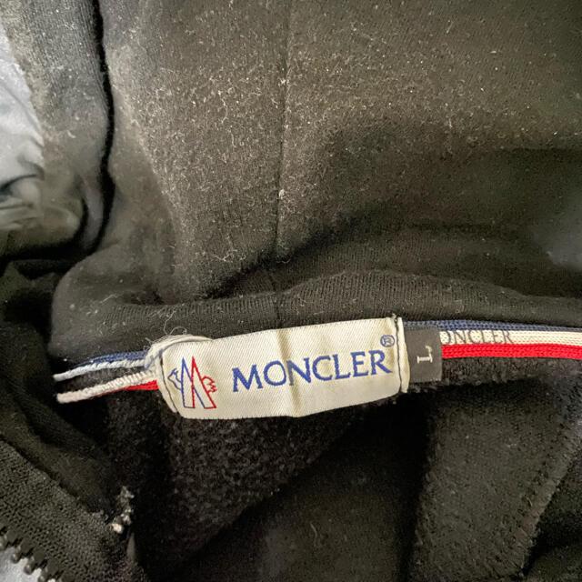 MONCLER(モンクレール)のモンクレール パーカー 黒 L メンズのトップス(パーカー)の商品写真