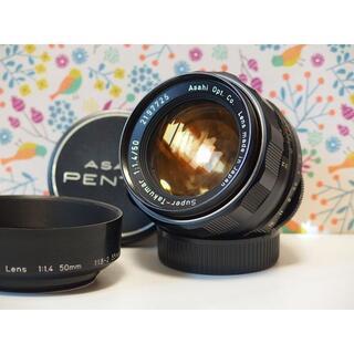 ペンタックス(PENTAX)のPentax Super Takumar 50mm F1.4 ※黄変少 フード付(レンズ(単焦点))