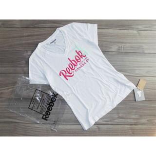 リーボック(Reebok)の新品リーボックReebokレディース フィットネス 半袖Tシャツ白Mジム(ウォーキング)