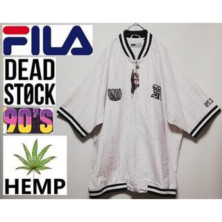 FILA - 1 90年代 DEAD STOCK FILA フィラ ロゴ ベースボールシャツ