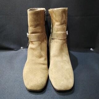 アンクライン(ANNE KLEIN)のアンネクライン ベルト付ショートブーツ ブラウン(ブーツ)