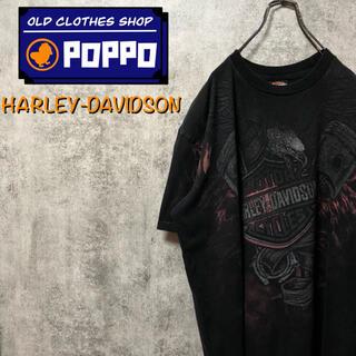 ハーレーダビッドソン(Harley Davidson)のハーレーダビッドソン☆イーグルビッグロゴ・バックプリントTシャツ(Tシャツ/カットソー(半袖/袖なし))