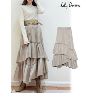 Lily Brown - リリーブラウン ランダムティアードスカート