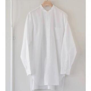 COMOLI - 18aw comoli バンドカラーシャツ ホワイト コモリ