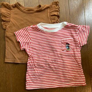ユニクロ(UNIQLO)のUNIQLO Tシャツ ミニーちゃん 西松屋 カットソー 2枚セット(Tシャツ)