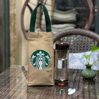 スターバックスコーヒー(Starbucks Coffee)のスタバ スターバックス トート バッグ ドリンクホルダー タンブラー ベージュ(トートバッグ)