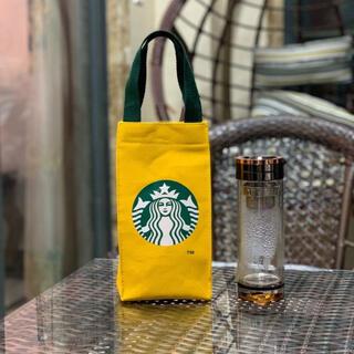 スターバックスコーヒー(Starbucks Coffee)のスタバ スターバックス トート バッグ ドリンクホルダー タンブラー 海外 黄色(トートバッグ)