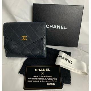 シャネル(CHANEL)のCHANEL シャネル 二つ折り財布 折りたたみ財布 黒 レディース M49(折り財布)