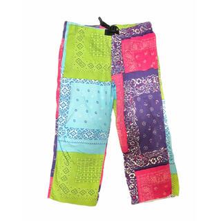 ワイルドシングス(WILDTHINGS)のWILD THINGS paisley patchworked trousers(ワークパンツ/カーゴパンツ)