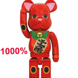 MEDICOM TOY - BE@RBRICK ベアブリック 招き猫 梅金メッキ 1000%