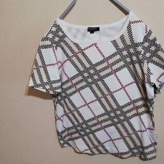 バーバリー(BURBERRY)のバーバリー ロンドン Tシャツ 白 サイズ4 Lサイズ ノバチェック(Tシャツ(半袖/袖なし))