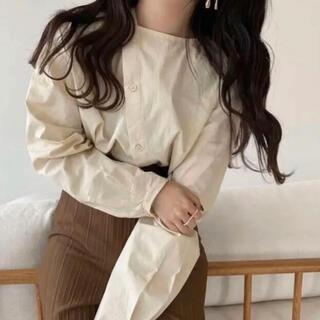 Kastane - lawgy no collar asymmetry blouse
