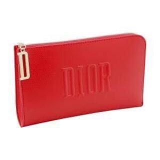 Dior - ディオール ノベルティ ポーチ 薄型 レッド