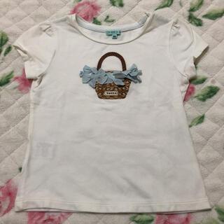 トッカ(TOCCA)のTOCCA かごリボン刺繍付き半袖Tシャツ100(Tシャツ/カットソー)