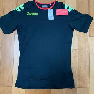 【新品】カッパkappa 半袖 プラクティスシャツ  Mサイズ 黒色