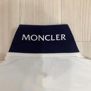 MONCLER - [新品同様]モンクレール  ポロシャツ ホワイト×ネイビー M