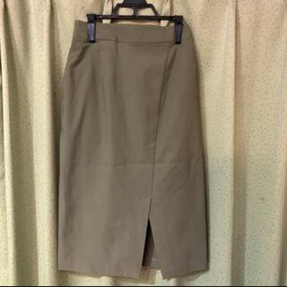 センスオブプレイスバイアーバンリサーチ(SENSE OF PLACE by URBAN RESEARCH)のミドル丈スカート オリーブ、カーキ センスオブプレイス(ひざ丈スカート)