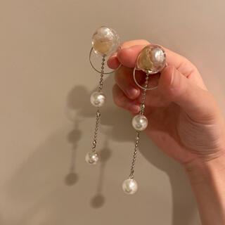 Ameri VINTAGE - handmade♡ レジンとパールのピアス