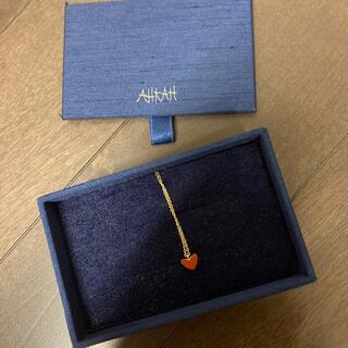 アーカー(AHKAH)のアーカーティランハートネックレス(ネックレス)