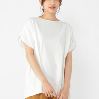 STUDIO CLIP - スタジオクリップstudioclip◆ Tシャツ肩ギャザープルオーバー白試着のみ