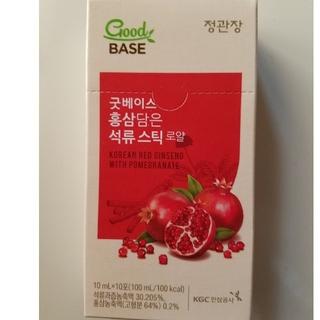 GoodBASE 紅参パック ザクロスティック 10ml×10包(健康茶)