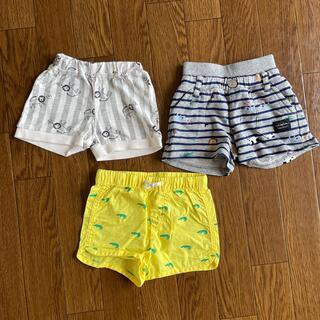 エイチアンドエム(H&M)の70㌢ ショートパンツ 3枚セット(パンツ)