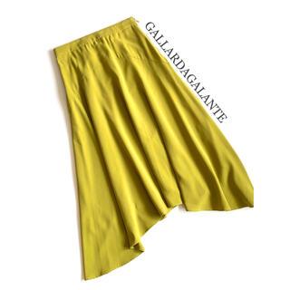 ガリャルダガランテ(GALLARDA GALANTE)のGALLARDAGALANTE ガリャルダガランテ カーブ切替スカート 日本製(ロングスカート)