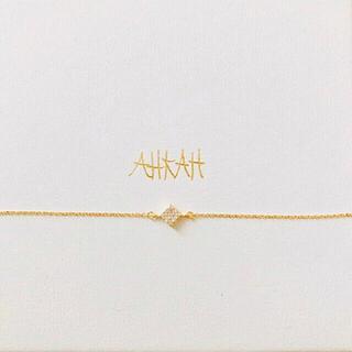 アーカー(AHKAH)のAHKAH アーカー パヴェダイヤ K18YG ブレスレット 販売証明書アリ(ブレスレット/バングル)