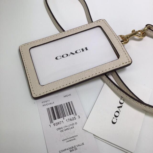 COACH(コーチ)の新品 コーチ ★  パスケース カードケース レザーチョーク レディースのファッション小物(パスケース/IDカードホルダー)の商品写真